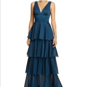 Laundry By Shelly Segal Tiered Ruffle Gown